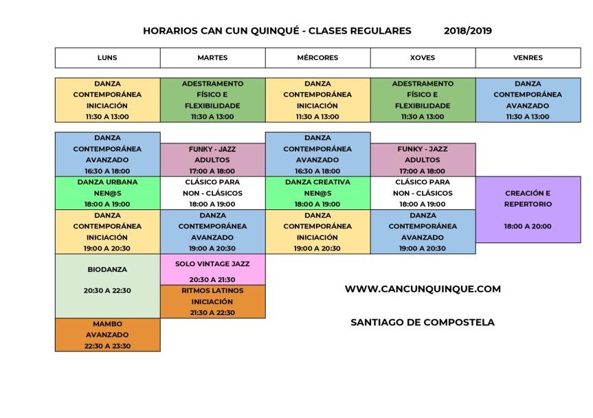 HORARIOS CCQ 20182019 - HORARIO CCQ-001